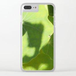 Nasturtium Leaves Clear iPhone Case