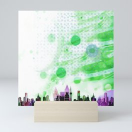 Bright Architecture and Snowflakes #2 Mini Art Print