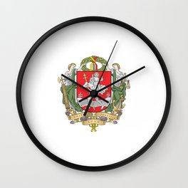 flag of vilnius Wall Clock