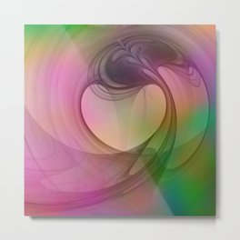 Emotions, Colorful Abstract Art Metal Print