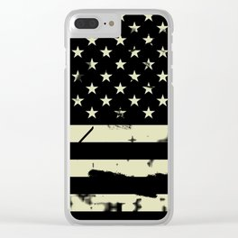 Distressed Tactical U.S. Flag Clear iPhone Case