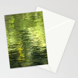 Green Water Abstract Art Stationery Cards