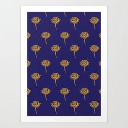 Navy dandelion Art Print