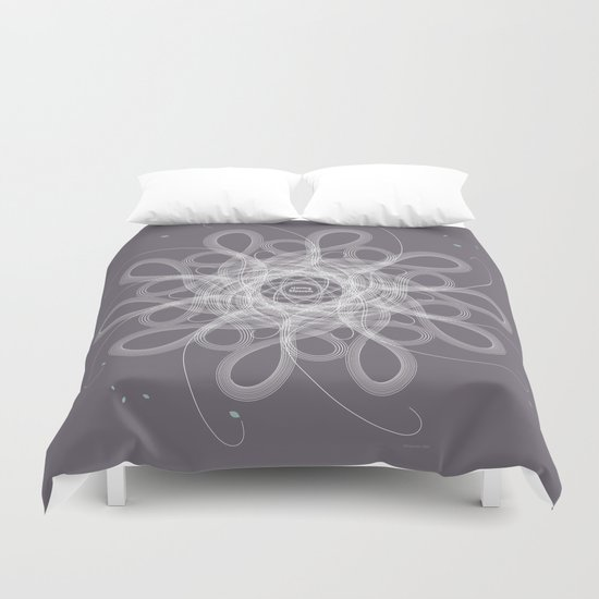 Ornament - Stormy Blossom Duvet Cover
