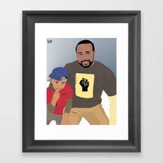 Pops&Jay Framed Art Print