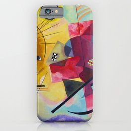 Wassily Kandinsky Yellow Red Blue iPhone Case