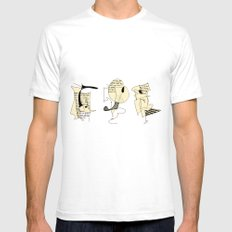 rumour White SMALL Mens Fitted Tee