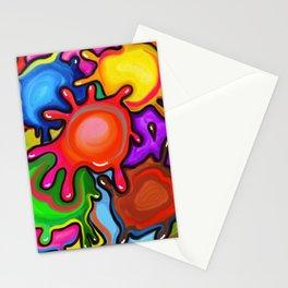 Vibrant Paint Splats Stationery Cards