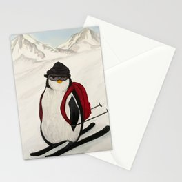 Skiing Penguin Stationery Cards
