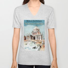 Vintage 1893 Chicago World's fair expo Unisex V-Neck