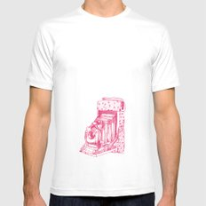Camera Sketch 2 Mens Fitted Tee MEDIUM White