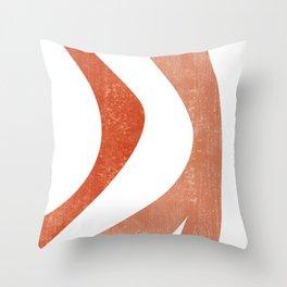 Terracotta Art Print 5 - Terracotta Abstract - Modern, Minimal, Contemporary Print - Burnt Orange Throw Pillow