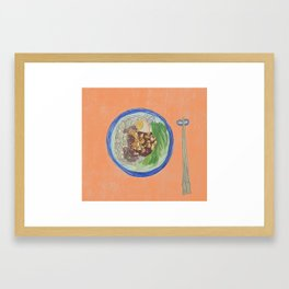 Noodle Orange Framed Art Print