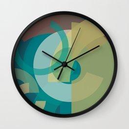 Cores em Semicírculos Q-1 Wall Clock