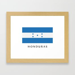 Honduras flag Framed Art Print