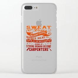 Carpenter Woman Clear iPhone Case