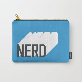 Retro Nerd Blue Carry-All Pouch