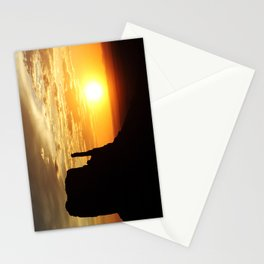 Sunrise over Monument Valley West Mitten Butte Stationery Cards