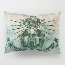 Wild and Free Motorbike Rider Pillow Sham