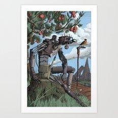 Johnny Apple-Droid Art Print