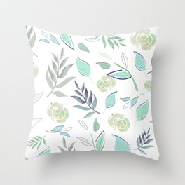 Simple and stylized flowers 2 Throw Pillow