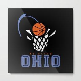 We Bleed Ohio Basketball Metal Print