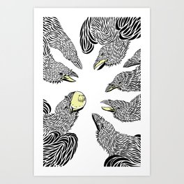 crows Art Print