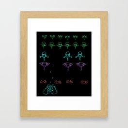 Bone Invaders Framed Art Print