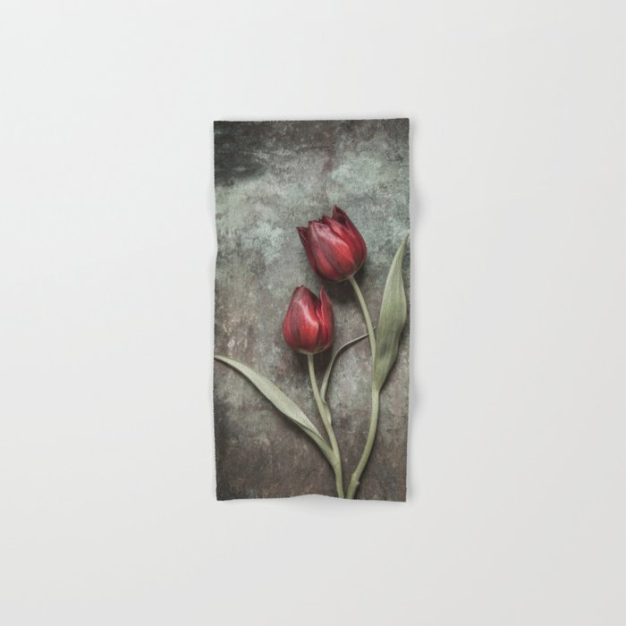 Red Tulips Hand & Bath Towel