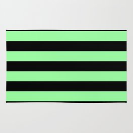Green and Black Stripes Rug
