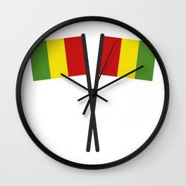 guinea flag Wall Clock