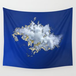 Little Golden White Cloud in a Blue Blue Sky Wall Tapestry