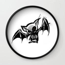 Skeleton bat Wall Clock