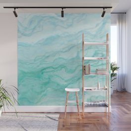 Ocean Blue Marble Texture Wall Mural