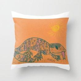 Gila Monster Throw Pillow