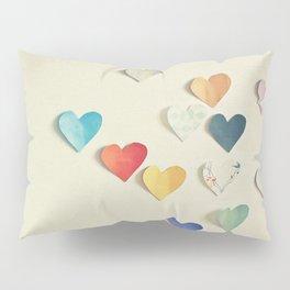Paper Hearts Pillow Sham