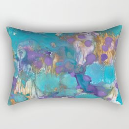 Blue Blossom Rectangular Pillow