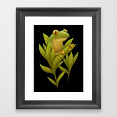 Frog Bloom Framed Art Print