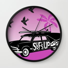 Goth Surf Wall Clock