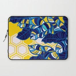 Geo Pop Foliage on Yellow & White Laptop Sleeve