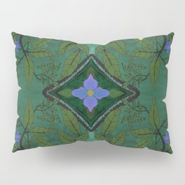 Branch and Bluebell Pillow Sham