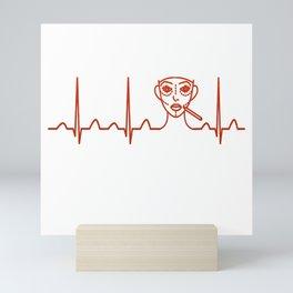 Plastic Surgeon Heartbeat Mini Art Print