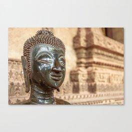 Buddha at Ho Phra Keo, Vientiane, Laos Canvas Print