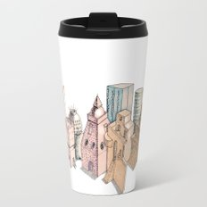 the city painted in pastel colours Travel Mug