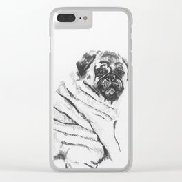 Pug with Rolls Clear iPhone Case