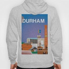 Durham, North Carolina - Skyline Illustration by Loose Petals Hoody
