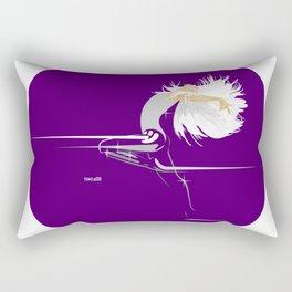 White Girl on Deep Purple Rectangular Pillow