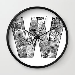 Cutout Letter W Wall Clock