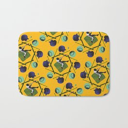 pop pattern_baseball Bath Mat
