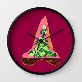 Shark Tooth Terrarium 8 Wall Clock